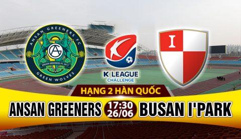 Nhận định Ansan Greeners vs Busan I'Park 17h30, 26/06: Vị trí được bảo vệ
