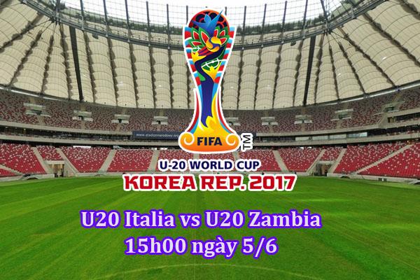 Link sopcast U20 Italia và U20 Zambia lúc 15h00 – 05/06