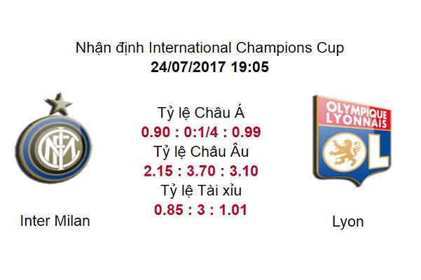 Nhận định, dự đoán Inter Milan vs Lyon 19h05, ngày 24/07