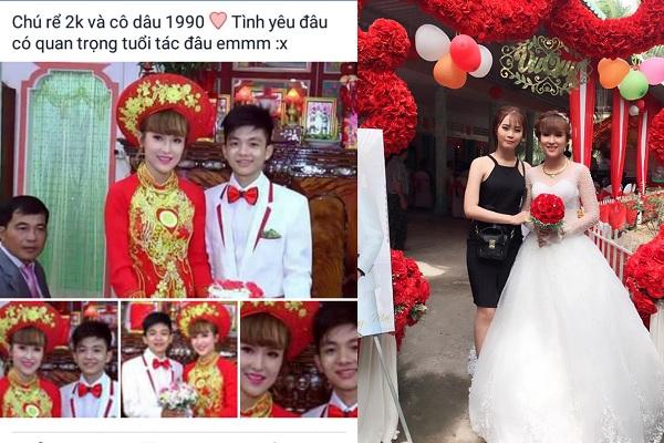 Đám cưới đẹp của cô dâu 1990 và chú rể 2000