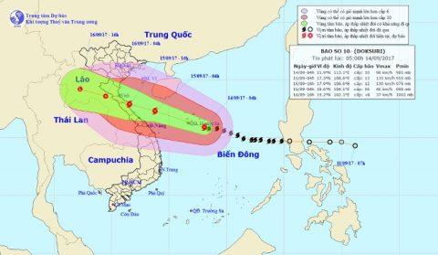 Bão mạnh nhất năm chuyển hướng về phía Nghệ An-Quảng Trị