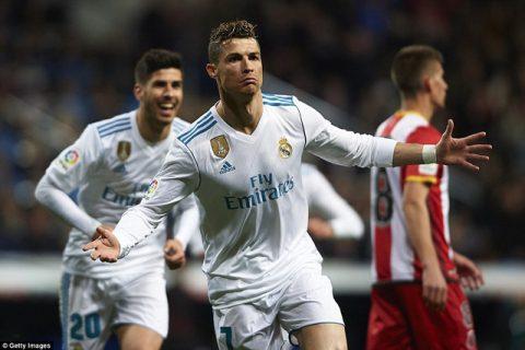 Real Madrid 6-3 Girona: C.Ronaldo ghi 4 bàn