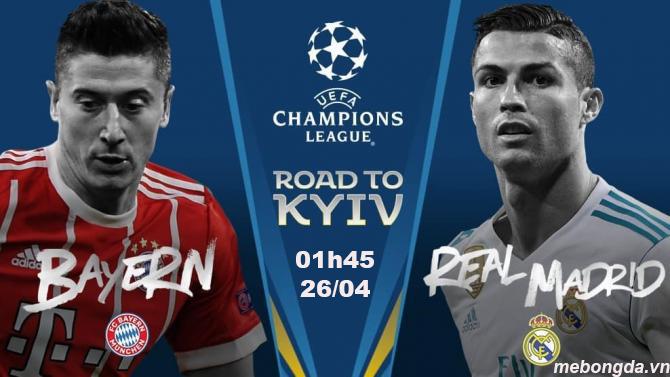 Link sopcast: Bayern Munich vs Real Madrid 1h45 ngày 26/4
