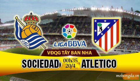 Link sopcast: Real Sociedad vs Atletico Madrid 00h35 ngày 20/4