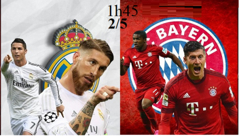 Link sopcast: Real Madrid vs Bayern Munich 1h45 ngày 2/5