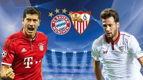 Link sopcast: Bayern Munich vs Sevilla, 01h45 ngày 12/4