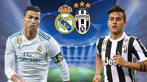 Link sopcast: Real Madrid vs Juventus, 01h45 ngày 12/4
