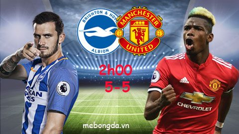 Link sopcast: Brighton vs Man United 2h00 ngày 5-5