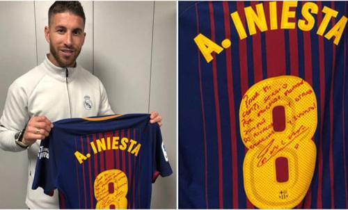 Iniesta đã gửi quà chia tay đến Ramos
