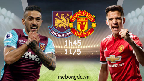 Link socpast: West Ham vs Man United, 01h45 ngày 11/5