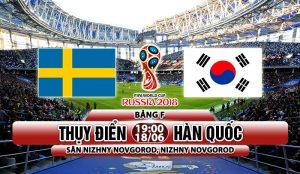 Link sopcast: Thụy Điển vs Hàn Quốc 19h00 ngày 18/06