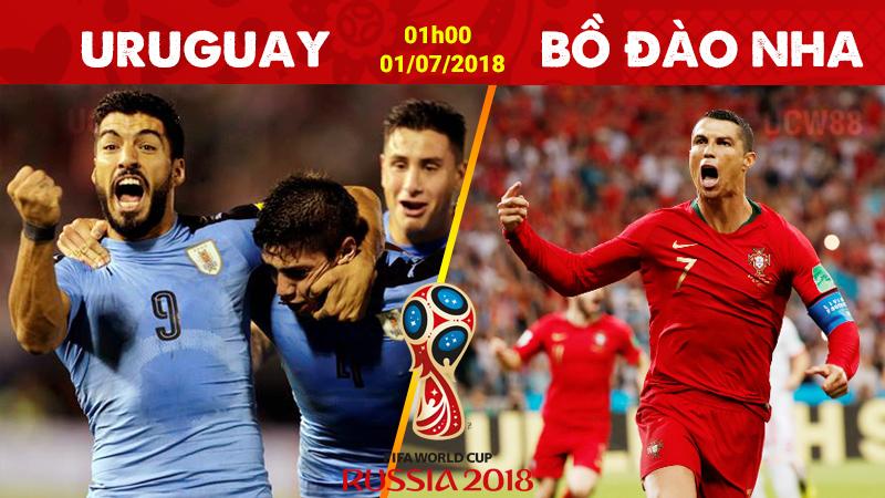 Link sopcast: Uruguay vs Bồ Đào Nha, 01h00 ngày 1/7