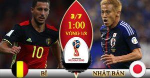 Link sopcast: Bỉ vs Nhật Bản 1h00 ngày 3/7 vòng 1/8 world cup 2018