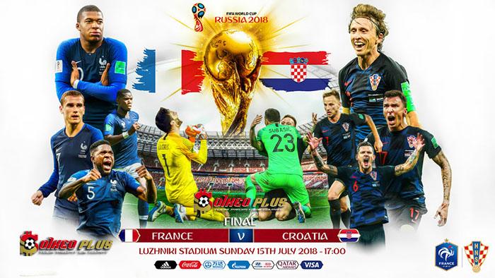 Link Sopcast: Pháp vs Croatia, 22h00 ngày 15/7