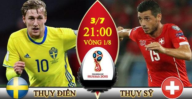 Link sopcast: Thụy Điển vs Thụy Sỹ 21h00 ngày 3/7