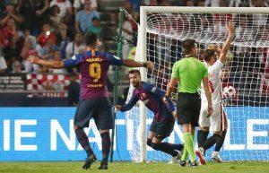 Thắng nghẹt thở Sevilla, Barca đoạt Siêu cúp Tây Ban Nha