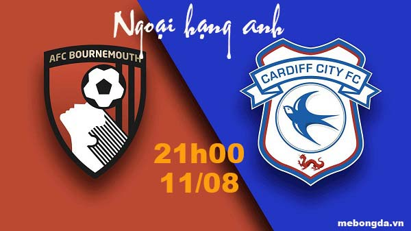 Link sopcast: Bournemouth vs Cardiff City 21h00 ngày 11/8
