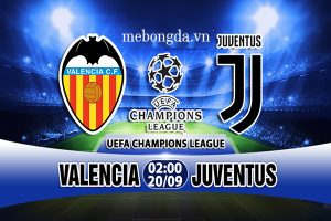 Link sopcast: Valencia vs Juventus 2h00 ngày 20/9