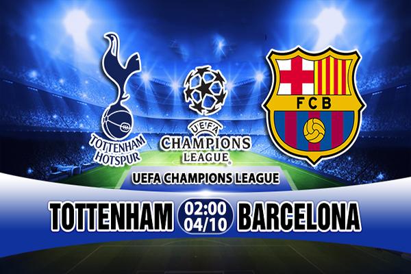 Link sopcast: Tottenham vs Barcelona