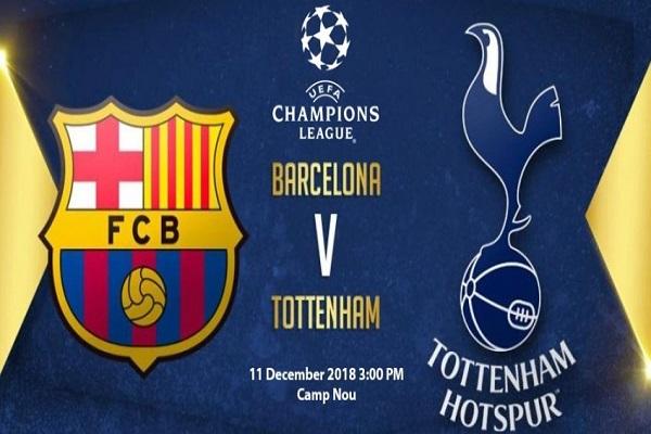 Nhận định Barcelona vs Tottenham (3h00 ngày 12/12)