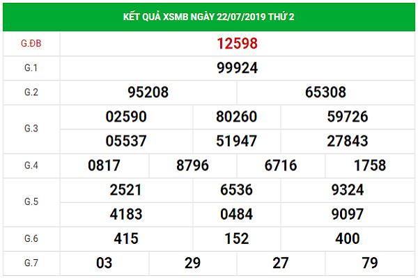 Dự đoán KQXSMB ngày 23/7/2019 – Dự đoán XSMB hôm nay 23/7