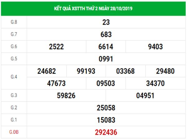 Soi cầu VIP kết quả XSTTH hôm nay thứ 2 ngày 4/11/2019