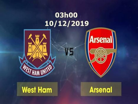 Link sopcast West Ham vs Arsenal, 03h00 ngày 10/12