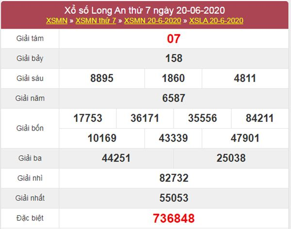 Thống kê XSLA 27/6/2020 chốt lô Long An thứ 7 cực chuẩn
