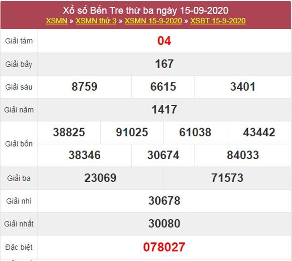 Soi cầu KQXS Bến Tre 22/9/2020 thứ 3 chuẩn xác nhất