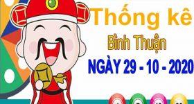Thống kê XSBTH ngày 29/10/2020 – Thống kê KQXS Bình Thuận thứ 5