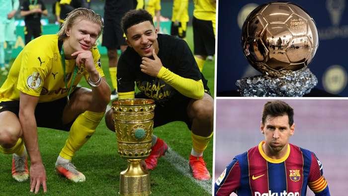 Bảng xếp hạng quyền lực Ballon d'Or 2021: Bộ đôi Dortmund đang thăng hoa khi hy vọng của Messi tắt dần