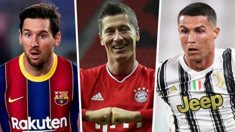 Top 30 cầu thủ ghi nhiều bàn thắng nhất năm 2021