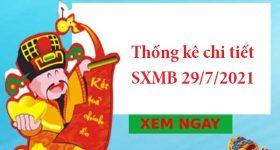 Thống kê chi tiết SXMB 29/7/2021 hôm nay