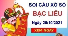 Soi cầu XSBL ngày 26/10/2021 chốt bạch thủ đài Bạc Liêu